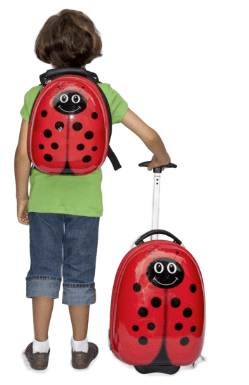 trendy kid ladybug luggage set ($89.99)