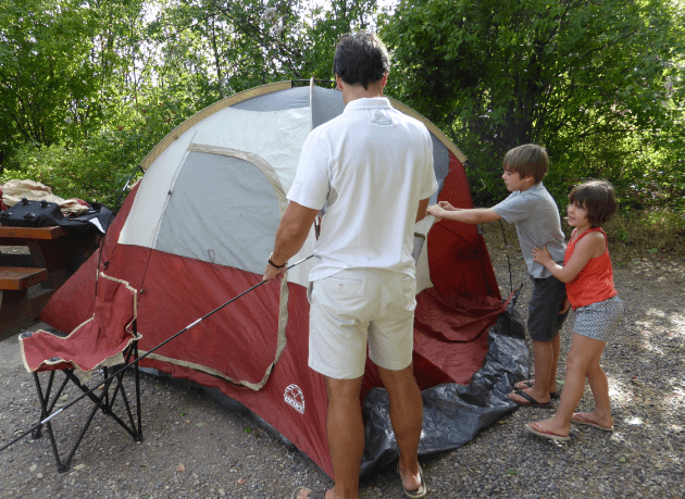 our first family camping trip – the blind leading the blind