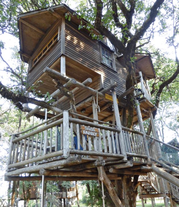 family-friendly tree house resort in oregon