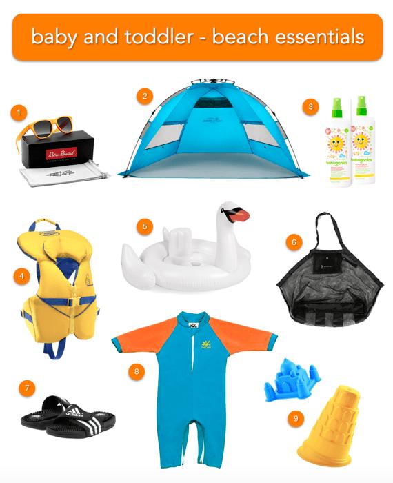 baby & toddler beach gear essentials
