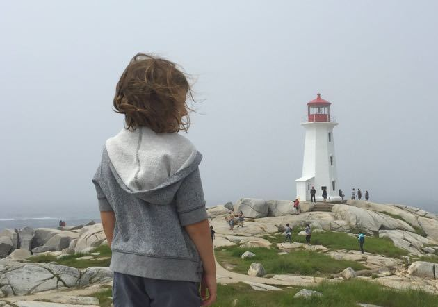 Peggy's Cove with toddler